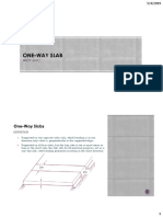 One Way Slab and t Beam