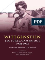 D. Stern_ B Rogers_ G Citron (eds) - Wittgenstein_ Lectures, Cambridge 1930-1933. From the Notes of G. E. Moore (2016).pdf
