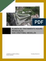 Planta de Tratamiento Aguas Residuales San Cristóbal Medellín