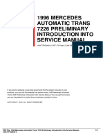 ID4eddd7feb-1996 mercedes automatic trans 7226 preliminary introduction into service manual
