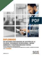 Diplomado en Sistemas Integrados de Gestión de La Calidad, Seguridad y Salud Ocupacional y Medio Ambiente