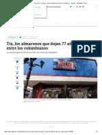 El Cierre de Almacenes Tía Deja 77 Años de Historia Entre Los Colombianos