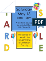WSB Yard Sale May 18, 2019