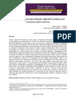 A Cultura Escolar Como Categoria de Análise e Como Campo de Investigação Na História Da Educação Brasileira