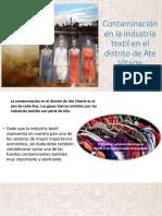 Contaminación en La Industria Textil en El Distrito