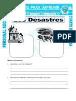 Ficha Tipos de Desastres Para Cuarto de Primaria