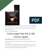 Como Jogar Free Fire