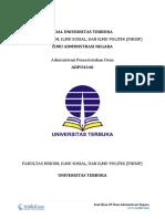 2 - Soal Ujian UT Ilmu Administrasi Negara ADPU4340 Administrasi Pemerintahan Desa