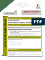 Licence professionnelle Ingénierie de Conception et de Développement d'Applications