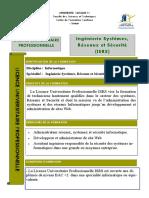 Licence professionnelle Ingénierie Systèmes, Réseaux et Sécurité