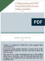 Biometric Fingerprint and NFC EVM