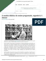 O Modelo Didático Do Ensino Programado, Segundo B. F