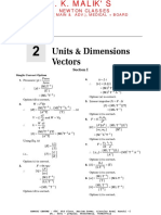 Chapter 2 - Units & Dimensions Vectors