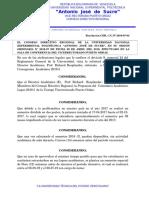 Consejo Directivo Regional Resolución CDR. C.U. N° 2019-07-04