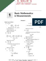 Chapter 1 - Basic Mathematics & Measurements