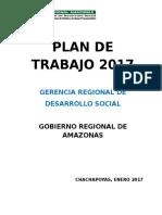 Plan de Trabajo 2017 - Gerencia de Desarrollo Social