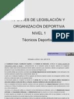 Apuntes de Legislación y Organización Deportiva. Nivel 1