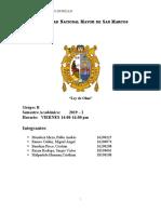 Informe 4 Ley de Ohm