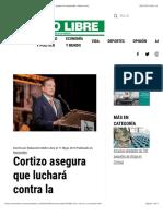 Cortizo asegura que luchará contra la corrupción y se acabará la impunidad - Metro Libre