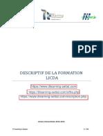 Descriptif Fst Settat Licence Professionnelle Ingenierie de Conception Et de Developpement d'Applications