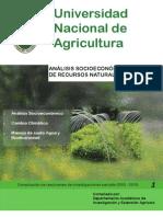 Análisis socieconomicos, manejo de recursos naturales y ambiente