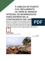 13-May-2019 Aprueba Cabildo de Puerto Morelos El Reglamento Municipal Para El Manejo Integral de Biorresiduos Para Enfrentar La Contingencia Del Sargazo