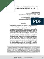 (20170906184737)Revisão Sobre Excipientes de Uso Farmácia Magistral