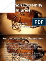 Common Extremity Injuries