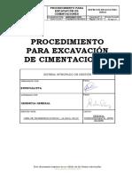 Hseq-pr-16 Procedimiento Para Excavaciones de Cimentaciones Rev