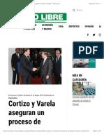 Cortizo y Varela aseguran un proceso de transición de gobierno fluido y tranquilo - Metro Libre