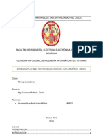Informe de Implementacion de La UP