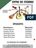 Diapositiva de Los Instrumentos de Cuerdas
