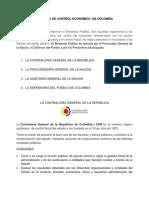 Organismos de Control Economico de Colombia