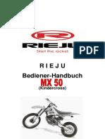 Handbuch Rieju MX 50 Kindercross