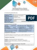 Guía Actividades y Rúbrica Evaluacion - Tarea 4 - Informe Final