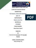 Portafolio de Ser Humano y Desarrollo Sostenible-roberto Soto