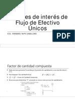2.Factores de Interés de Flujo de Efectivo Únicos