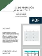 Analisis de Regresión Lineal Multiple