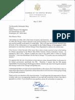 Rush Letter to FBI