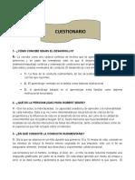 Cuestionario de Desarrollo