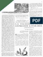 Uranga La Filosofía Como Expresión Literaria