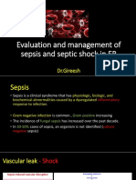 Evaluation and Management of Suspected Sepsis and Septic by Dr Gireesh Kumar K P