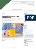 Edulcorantes No Nutritivos y Salud Cardiometabólica