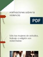 Afirmaciones Sobre La Violencia de Género