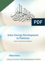 Solar Energy Development in Pakistan