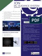 Criterion Directional Guidance System Slide Sheet Brochure