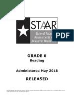 2018 STAAR Gr6 Reading Test