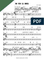 No Veo La Hora - Score Piano and Acoustic Guitar