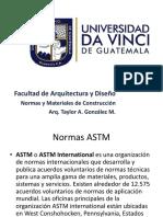 Normativas internacionales y generalidades del concreto en la construcción