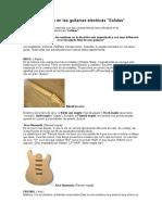 Maderas Usadas en Las Guitarras Electricas